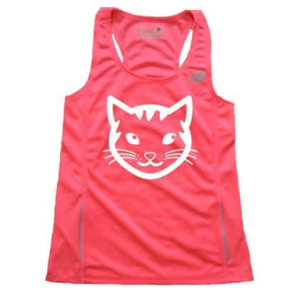 Women's Pink Cat Running singlet