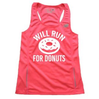 Women's Will Run for Donuts Singlet