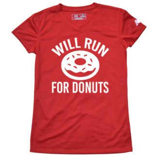 Women's will run for donuts shirt