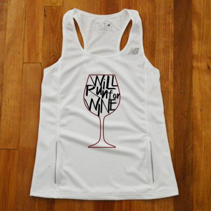 Will Run for Wine Singlet 1